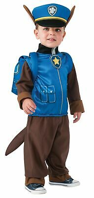 Kids Chase Paw Patrol Costume Halloween Youth Pup Pack Jumpsuit Hat Cap Gift