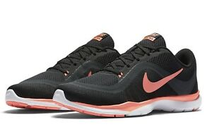 bd146ac5bf4 Nike Flex Trainer 6 Womens Shoes Sizes 5.5~11.5 Lava Glow Black ...