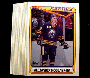 1990-91-Topps-Alexander-Mogilny-RC-20-Card-Lot-Nice-Rookie-Cards-Future-HOF