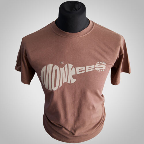 The Monkees Retro T Shirt Brown 60/'s Band Tee Davey Jones Cool Hipster
