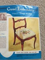 Vintage Erica Wilson Crewel Embroidery Chair Seat Kit Nip Hiawatha