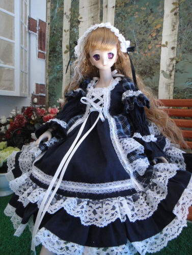 1-3-bjd-SD13-60cm-girl-doll-plaid-dress-outfits-dollfie-luts-SEN-102L-ship-US