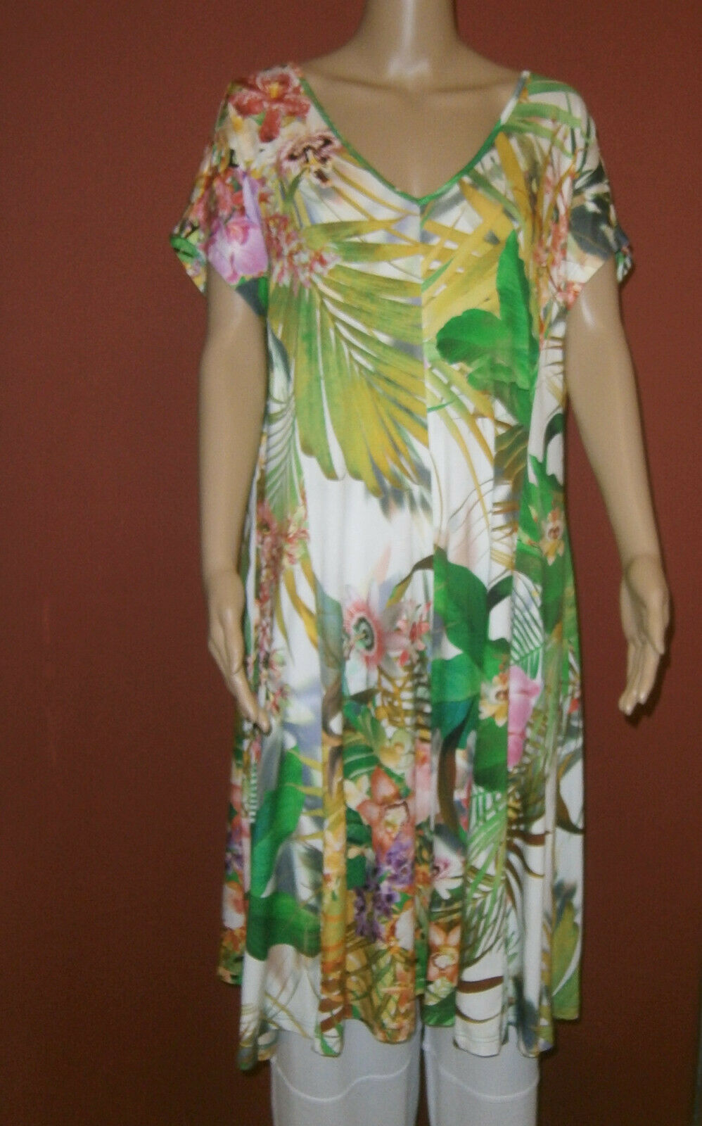 Ophilia  tunique robe long-shirt long-top multiFarbee Look Größe 5 (50-52)