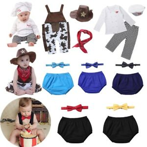 cda9691f0 Baby Boy Girl Cook Chef Cowboy Birthday Party Costume Outfit Toddler ...