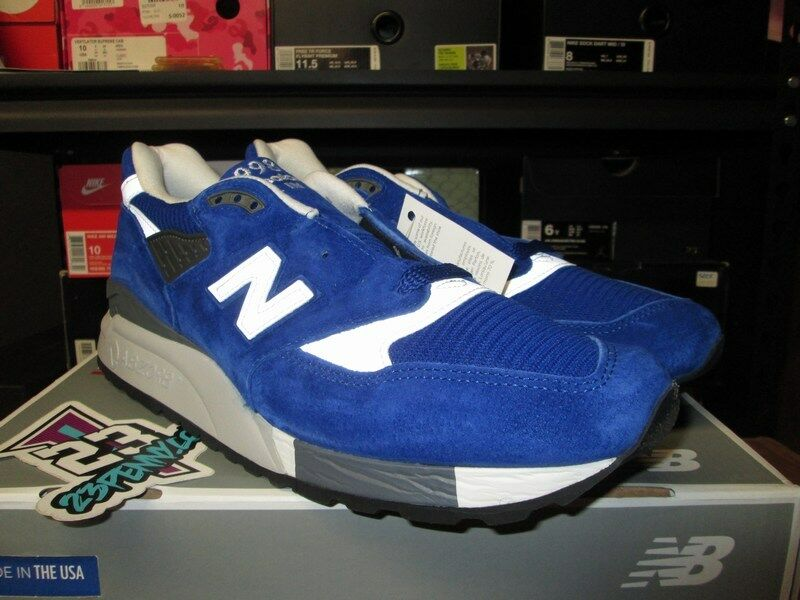 SALE NEW BALANCE 998 blueE SUEDE WHITE SZ 10.5-13 M998CBU RUNNING