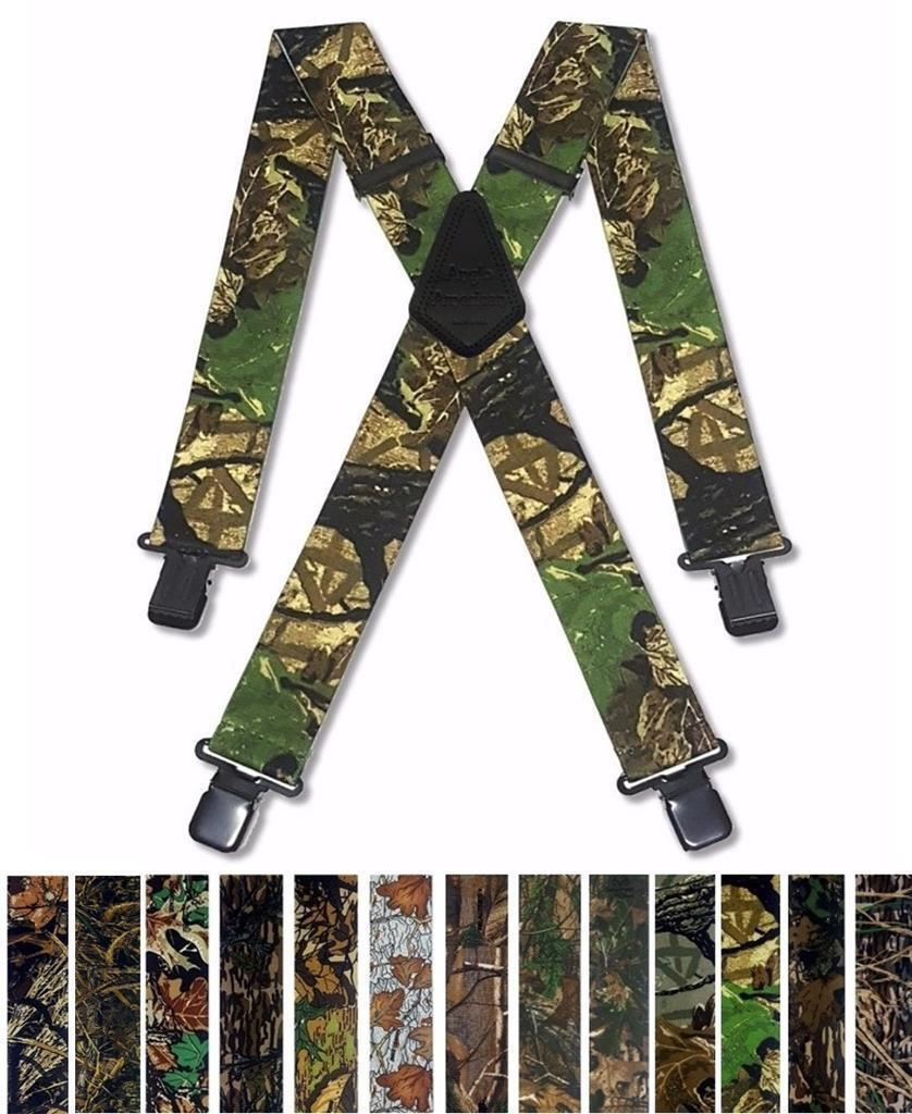 Mens Braces Heavy Duty Camouflage Camo Fishing Hunting Shooting for Trousers
