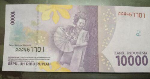 Indonesia 10,000 Rupiah prefix AAA UNC 2016