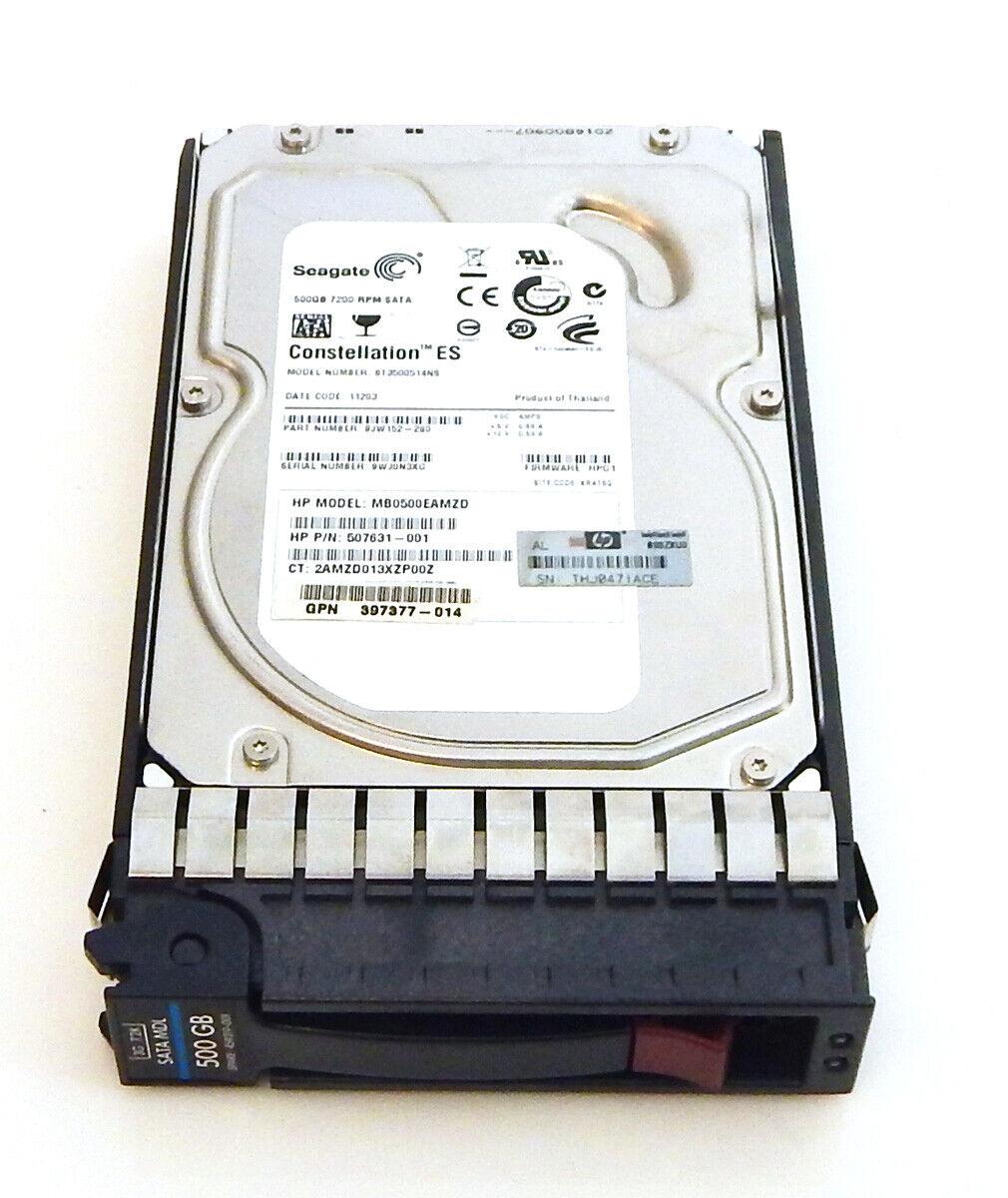 """HP 458928-B21 500GB 7.2K 3.5/"""" 3G SATA HARD DRIVE 459319-001 459321-001"""