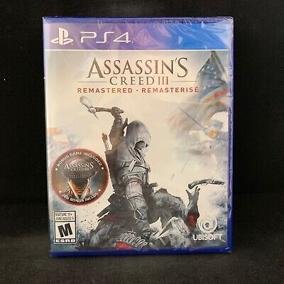 Assassin S Creed Iii 3 Remastered Ps4 Brand New Region Free 887256039387 Ebay