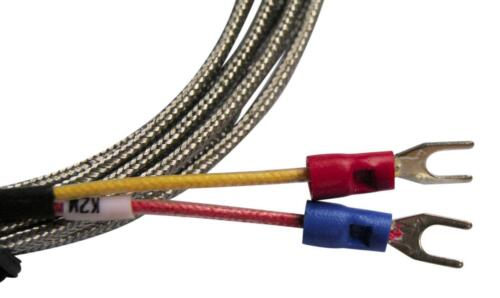 K Type Thermocouple Temperature Probe 3mm Diameter 50°C/_400°C 2M Braided Cable