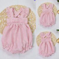 Newborn Infant Baby Girls Bodysuit Romper Jumpsuit Outfits Sunsuit Clothes 0-24M