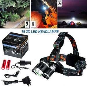 12000LM-3x-CREE-T6-Lampe-Frontale-Rechargeable-Pour-Camping-Chasse-Peche-Torche