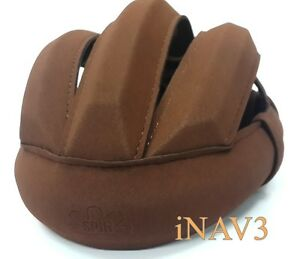 Handmade Brown Deerskin Leather Vintage Cycling Classic Helmet for Bicycle Spin