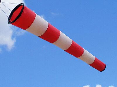 Manche à air rouge et blanche 100 cm