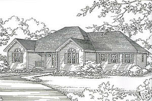 3 Bdrm 2 Bath 1780 Sf Hip Roof Ranch 2 Car Garage Under House Building Plans Ebay