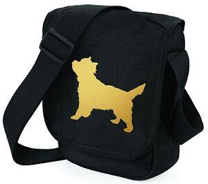Cairn-Terrier-Shoulder-Bags-Metallic-Gold-Silver-on-Black-Bag-Xmas-Gift