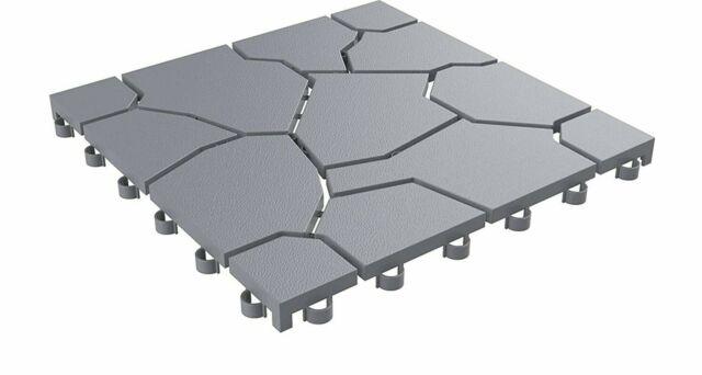 Outdoor Patio Tile Flooring Garage Floor Interlocking Deck Pool Porch Set Of 30 For Sale Online | EBay
