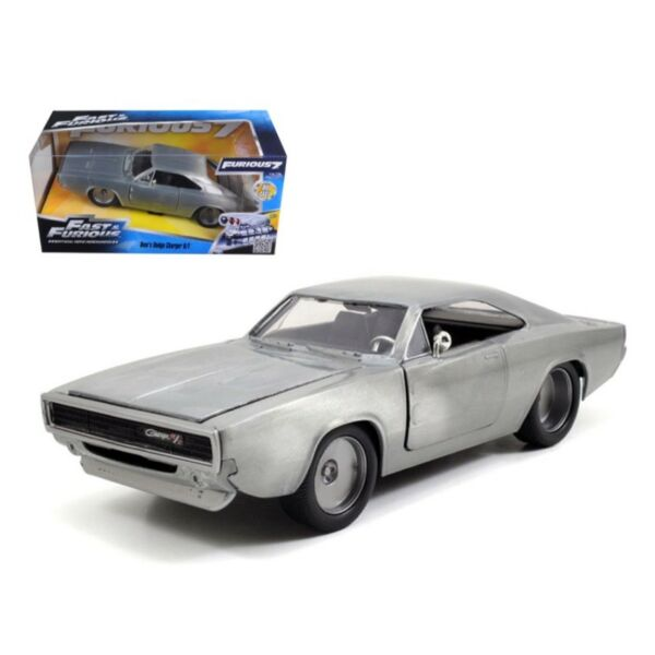 Doms Dodge Charger R//T mit Figur Fast and /& Furious 7 schwarz 1:24 Jada
