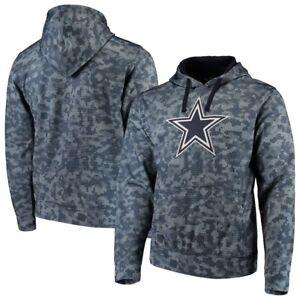 Men s Dallas Cowboys Navy Solomon Sublimated Pullover Hoodie Large ... 9a78db764