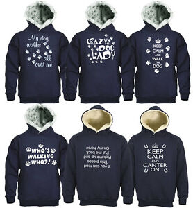 Sweatshirt-Hooded-Keep-Calm-Crazy-Dog-Lady-Whos-Upside-Down-Canter-On-Paw-Print