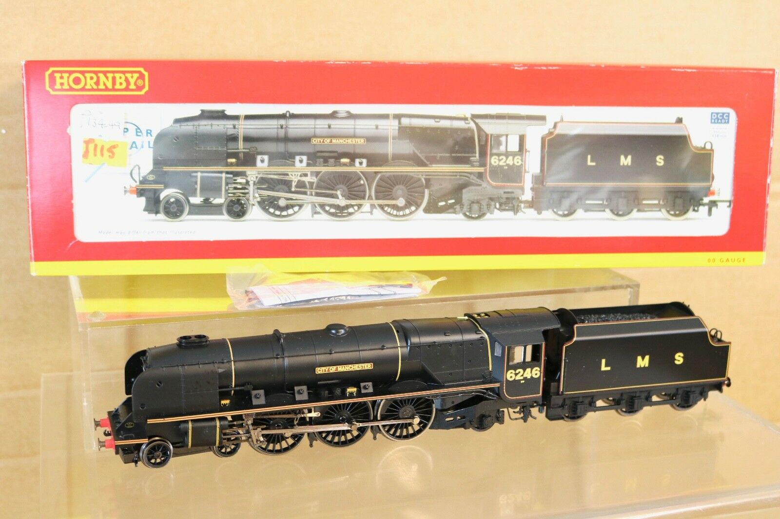 Hornby R2856 DCC Listo Lms 4-6-2 Duchess Class Loco 6246 City Of Manchester Nq