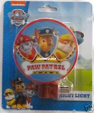 PAW PATROL NIGHTLIGHT! CHASE, RYDER & FRIENDS! FREE SHIP! NEW! NICKELODEON!