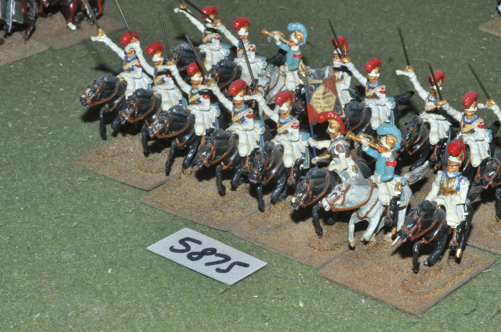 25mm napoleonic   french - carabiniers 16 cavalry metal painted - cav (5875)