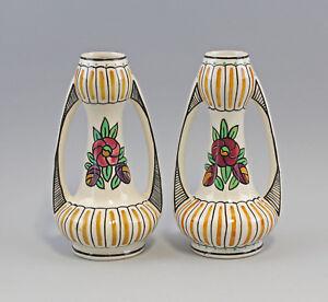 99845554-Paar-Jugendstil-Vasen-Amphore-Keramik