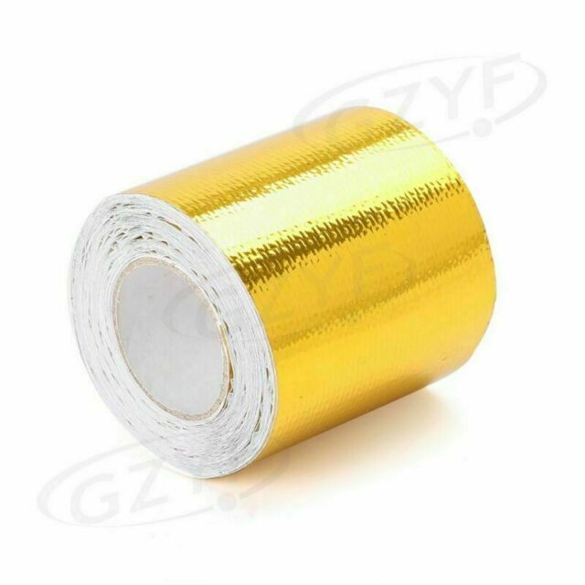 "2""x16' Roll Self Adhesive Reflective Gold High Temperature Heat Shield Wrap Tape"