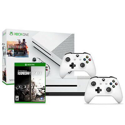 Xbox One S Battlefield 500GB + Xbox Wireless Controller + Rainbow Six Siege $239.99 by antonline at  online deal