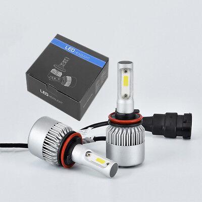 4Pcs 9005 H11 LED Total 2600W Combo Headlight High Low Beam 6000K White Kit Bulb