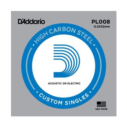 Corda per chitarra acustica//elettrica D/'ADDARIO PL008