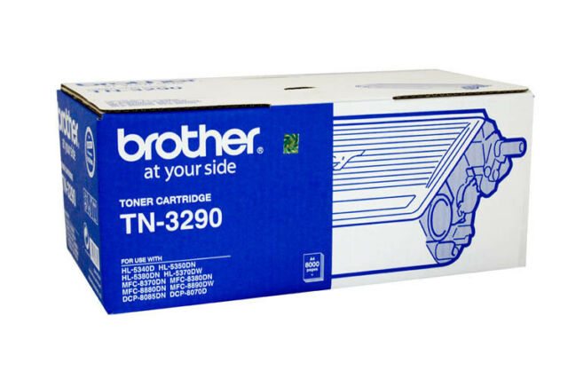 2x Brother Genuine TN-3290 Toners For HL5340D HL5350DN 5370DW MFC8880DN 8K Pages