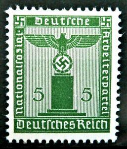 WW2 OFFICIAL REAL NAZI 3rd REICH ERA GERMAN STAMP HITLER ERA SWASTIKA MNH 5rf