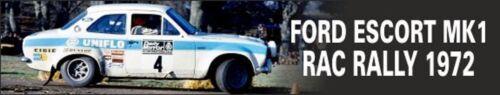 COLORADO  43247 CLARK #4 DECALS 1//43 FORD ESCORT MK1 RAC RALLY 1972