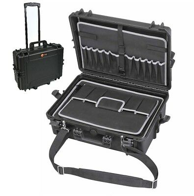 EL1907TWC Waterproof Technician Tool Organizer Case Electrician case with wheels