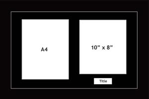 Multi Aperture Photo frame fits 2 10x8 photos multi-picture portrait white mount