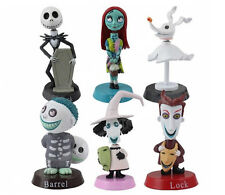 THE NIGHTMARE BEFORE CHRISTMAS BOBBLE-HEAD CAKE TOPPER FIGURES SET OF 6
