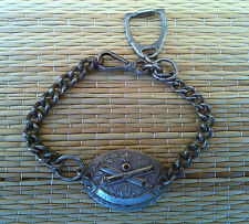 Ancienne chaine militaire,militaria  poilu canon croisé, WW 1ou2 old french army