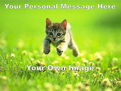 """YOUR OWN PERSONALISED PHOTO MESSAGE EDIBLE A4 CAKE TOPPER (10.5"""" x 8"""")"""