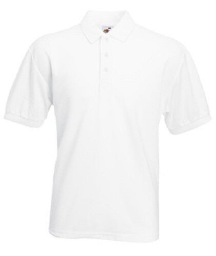Fruit of the Loom 65//35 Polycotton Mens Polo Sports Workwear Shirt No Logo