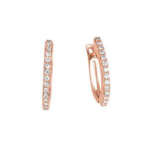 Goldschmuck-Ohrringe-Diamanten-14-K-585er-Rotgold-Brillantcreolen-0-23-Karat-Neu
