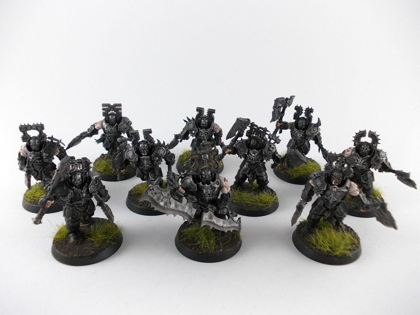10  x Blood Warriors del KHORNE-ben dipinto -  comodamente