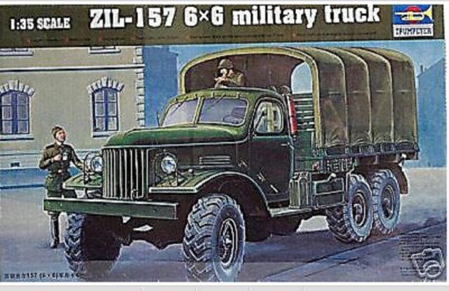 Trumpeter 1001 ZIL-157 6x6 Soviet Military Truck in 1:35