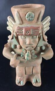 Superbe-statuette-vase-Inca-Maya-Vintage-Terre-cuite