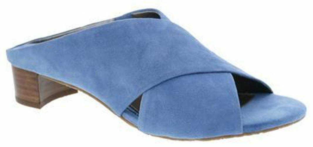 Ros Hommerson Women's Va Va Voom Sandals shoes bluee Suede 4512