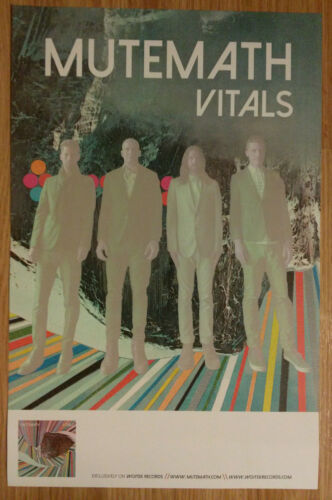 Double Sided Music Poster Promo Mutemath ~ Vitals
