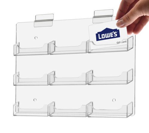 Business Membership Gift Credit Card Holder Display 9 Pocket Slatwall