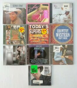 Country Music CD's  Lambert Cash Parrton Adkins Jackson Strait Various Lot of 10