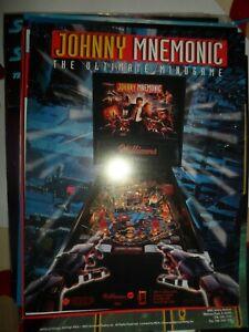 Johnny Mnemonic Williams Pinball Flyer NOS